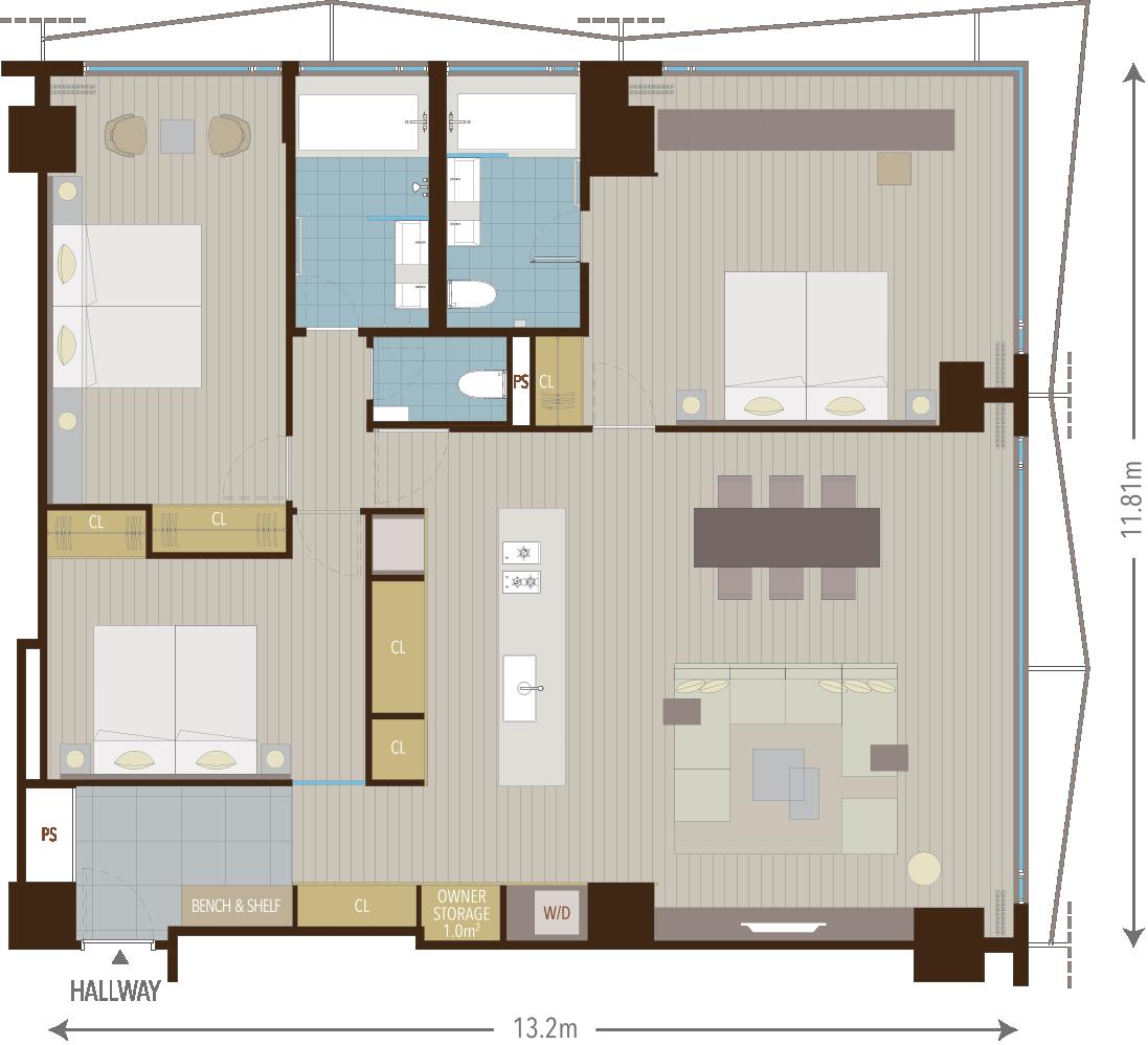 3 Bedroom Apartments   AYA Niseko